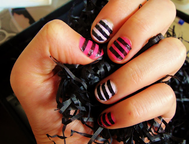 "Pink Zebra Nail ""Junkie"" – DIY Using Recycling Paper"