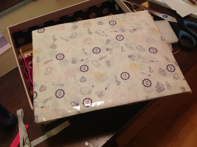 Glossybox DIY Idea 1 - Earring Storage box