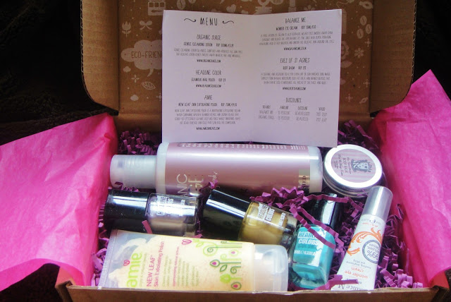 BeautecoBox June 2013 overview feat. Amie Skincare, Balance Me, Headline Colours, Orgnanic Surge, Eves of St. Agnes