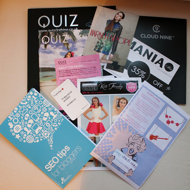 A Diary Entry to London Bloggers Party Goody Bag