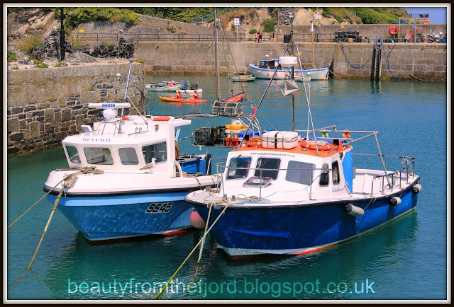 Cornwall Scenery -  Newquay Harbour: Fishing boats resting in the harbour