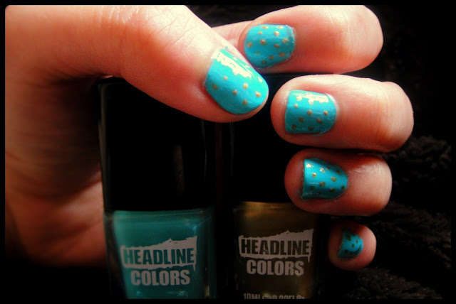 Headline Colors Nail Art and Review Poolside Party Glamour