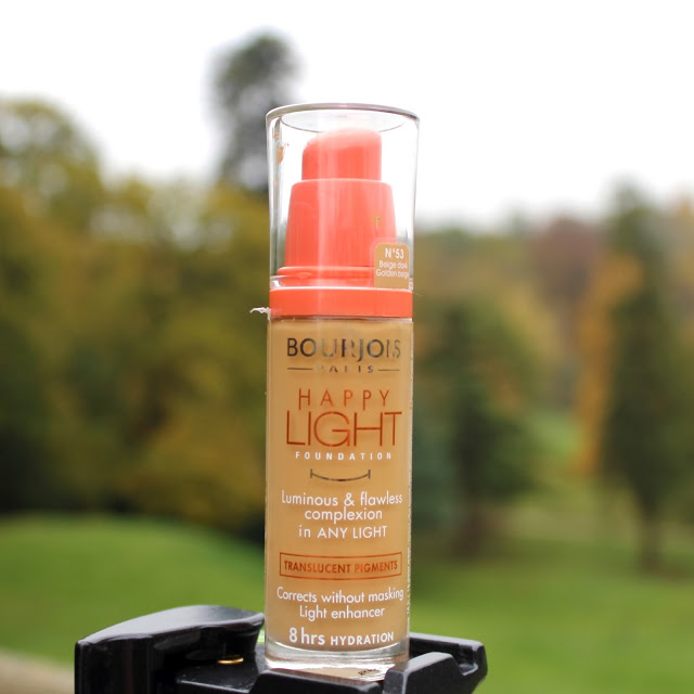 Bourjois Happy Light Foundation No53 Golden Beige Review and Swatches