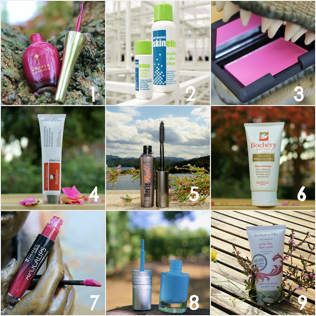 October Picture Favourites with Creative Backgrounds Beauty, Benefit, Bochery Nature, Jacava, Rimmel, Skinetica, Smooch, T.LeClerc,