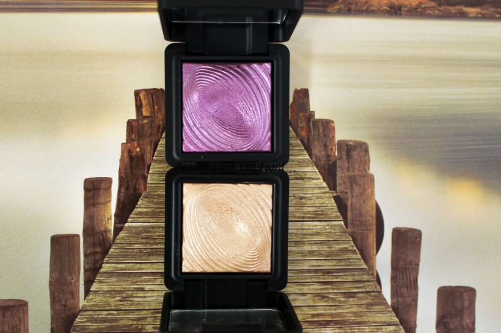 Kiko Cosmetics Water Eyeshadow Review & Swatches Light Gold and Cyclamen