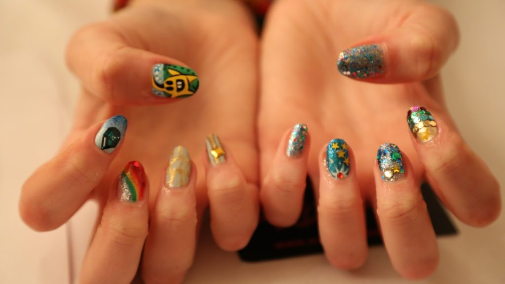 Diamond Digger Saga Launch Party with Sophy Robson at Convent Garden Hotel: Nail art