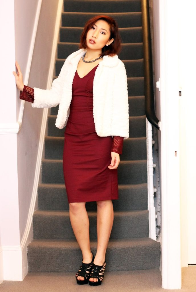 Outfit: Lace and Oxblood