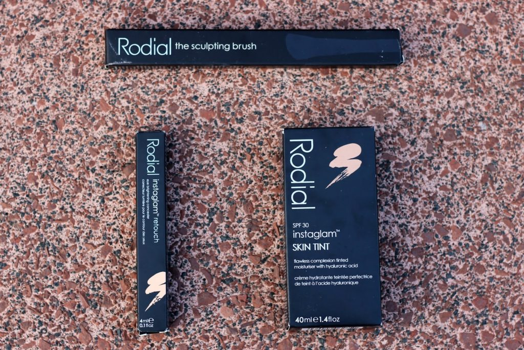 Rodial Makeup Products Review and Swatches - Rodial Instaglam Skin Tint, Rodial Instaglam Retouch and Rodial Sculpting Brush