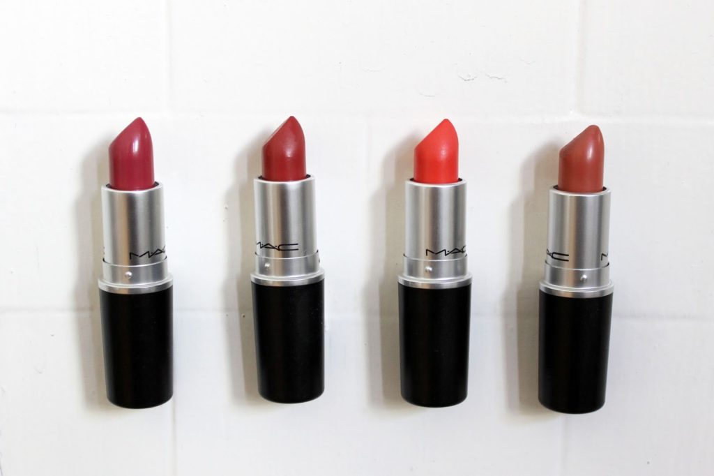 MAC Lipstick Haul Including Swatches: Craving, Brick O La, Vegas Volt and Velvet Teddy