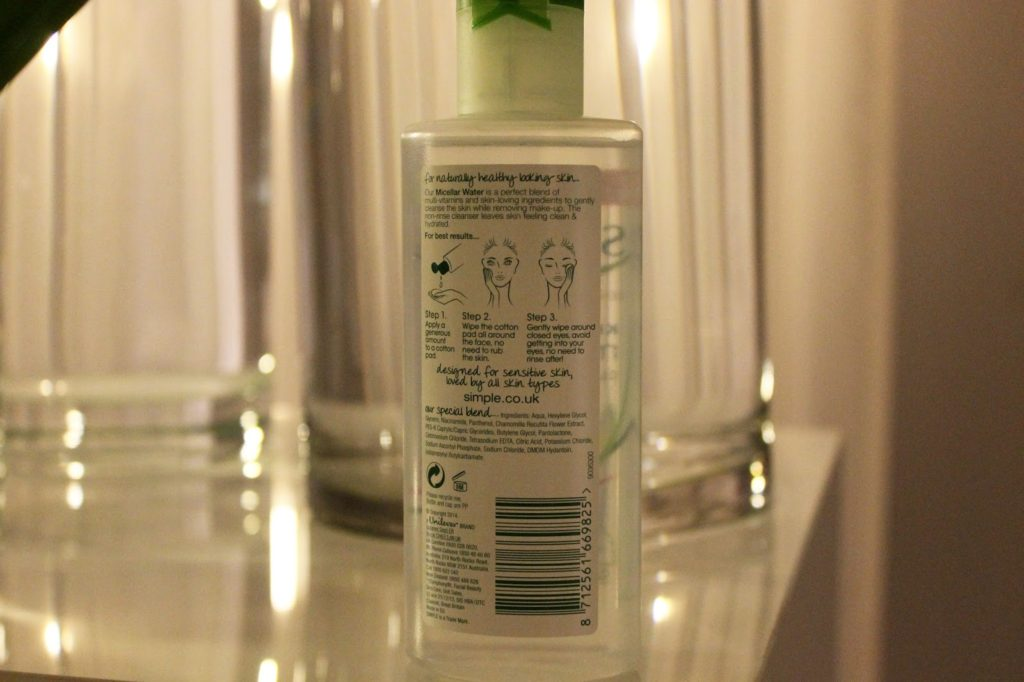 Simple Skincare Micellar Water Launch and Review