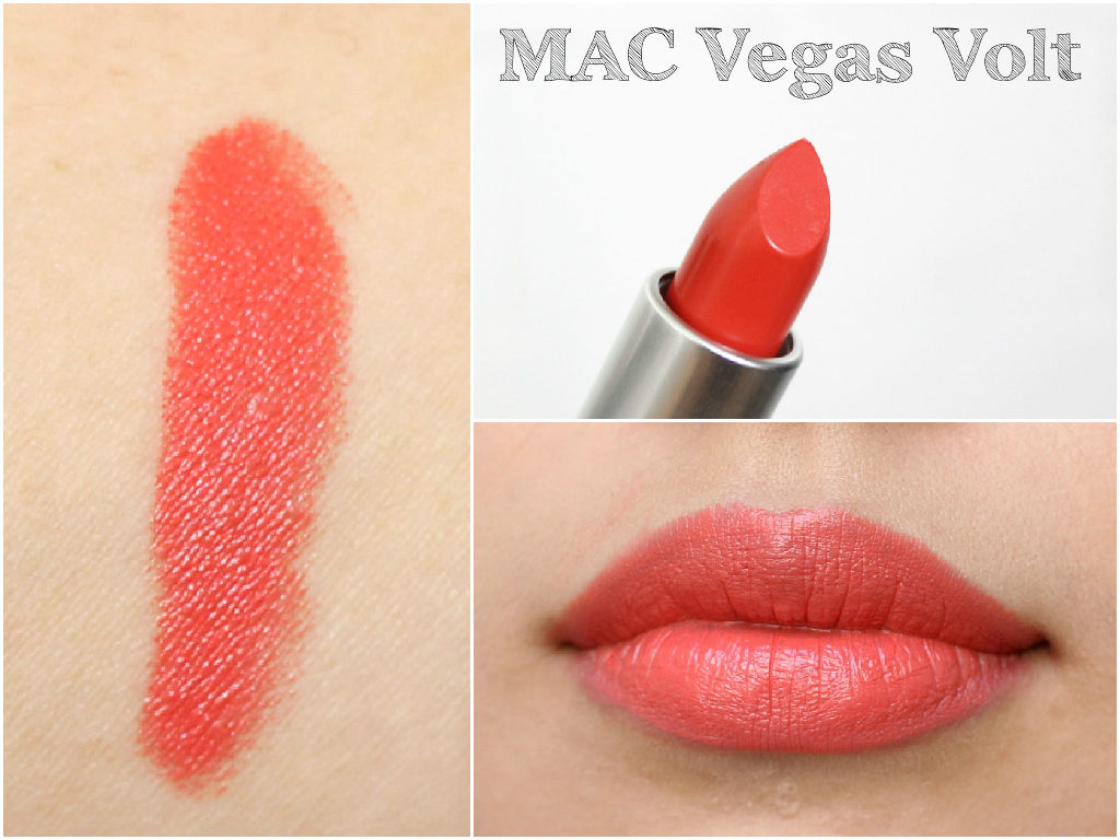 MAC Lipstick Swatch Book - MAC Vegas Volt