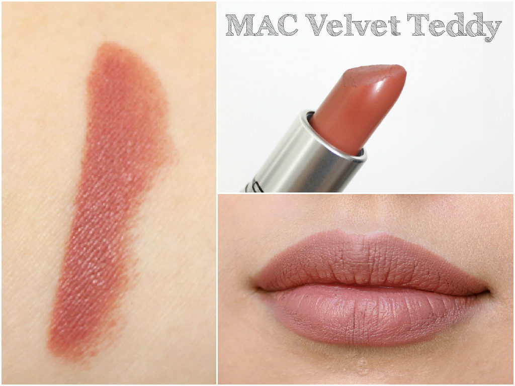 MAC Lipstick Swatch Book - MAC Velvet Teddy