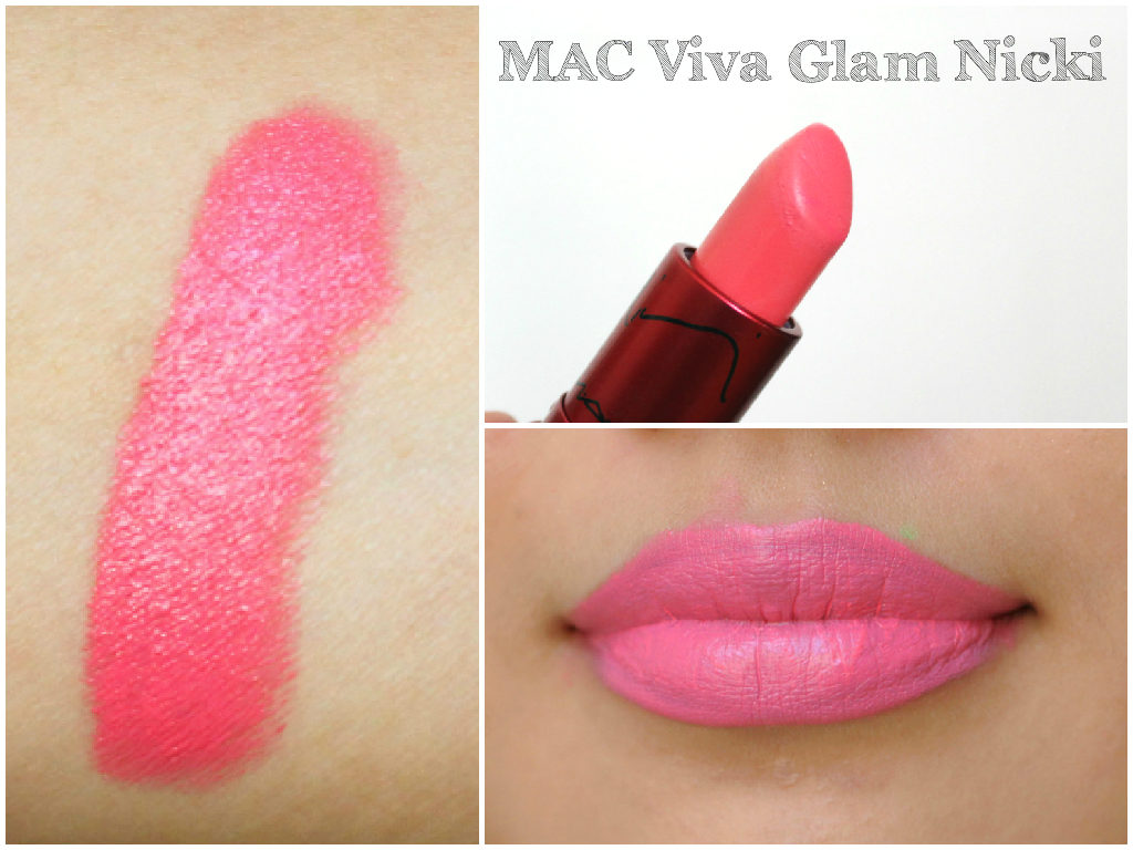 MAC Lipstick Swatch Book - MAC Viva Glam  Nicki