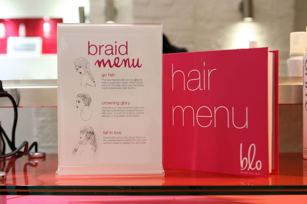 Blo Covent Garden - Blow Dry Bar Hair Menu