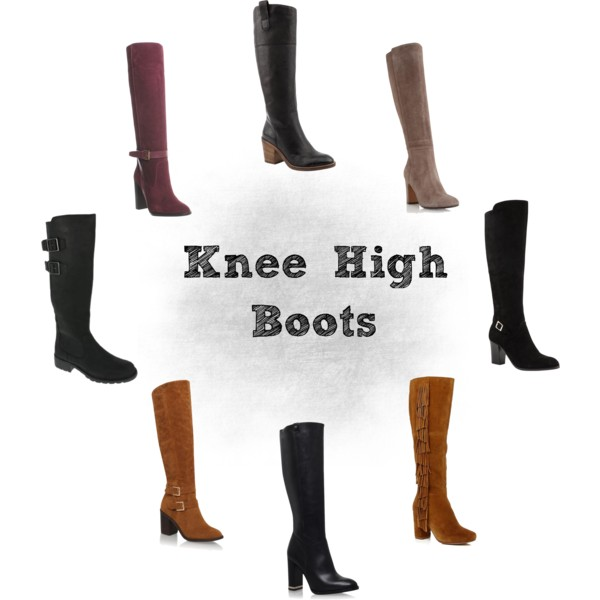 Block Heeled Knee High Boots for Autumn/Winter
