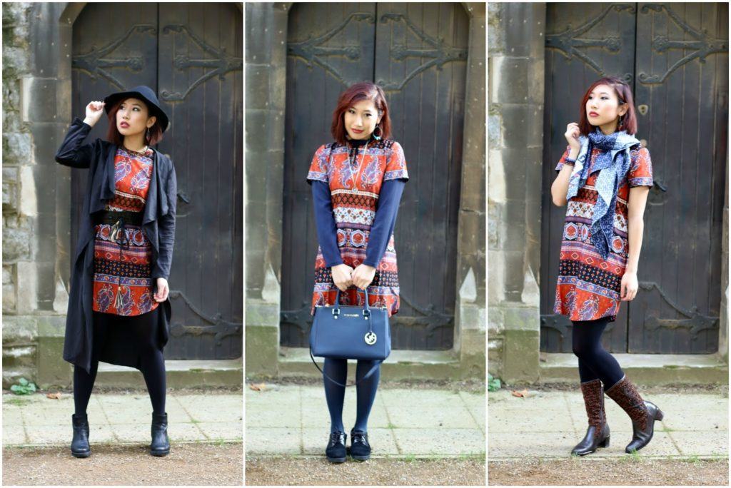 Outfit: Boohoo Dress for Autumn – 1 Dress, 3 Looks
