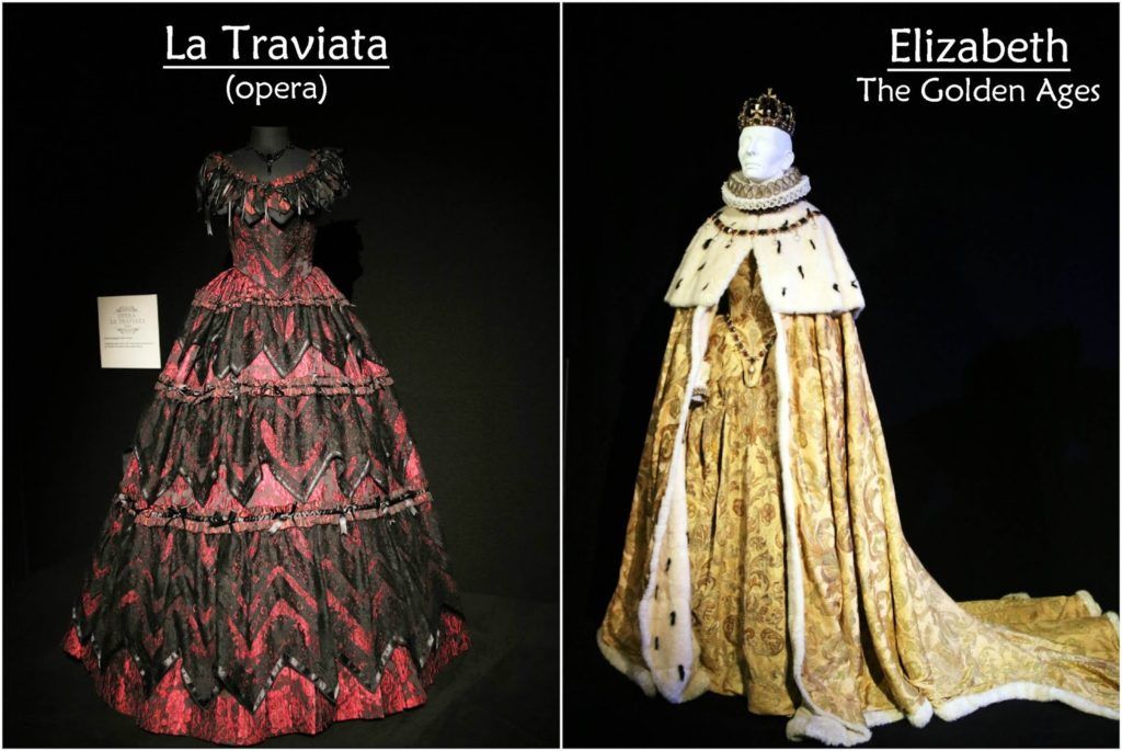 Dressed by Angels: Costume Exhibition - La Traviata, Elizabeth The Golden Ages