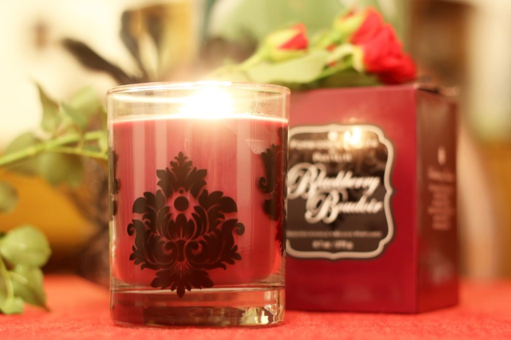 PartyLite Blackberry Boudoir for Valentine's Day