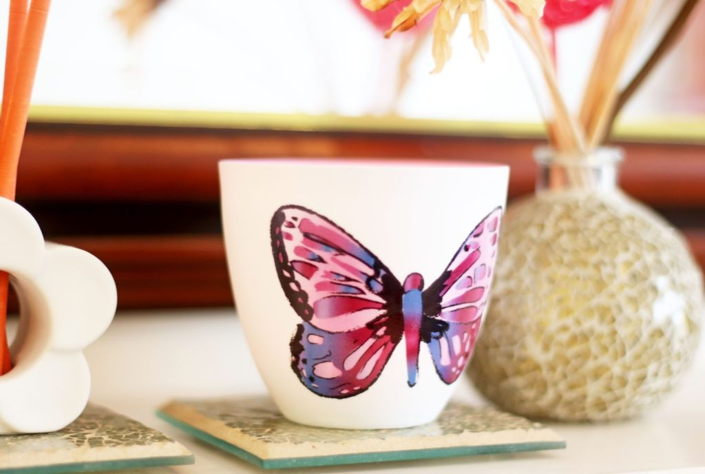 PartyLite Candles - Spring Scents for Mother's Day - Butterfly Porcelain Tealight Pair