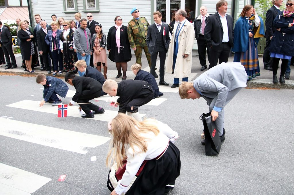 Celebrating 17 mai in Norway - Russetoget in Stavanger