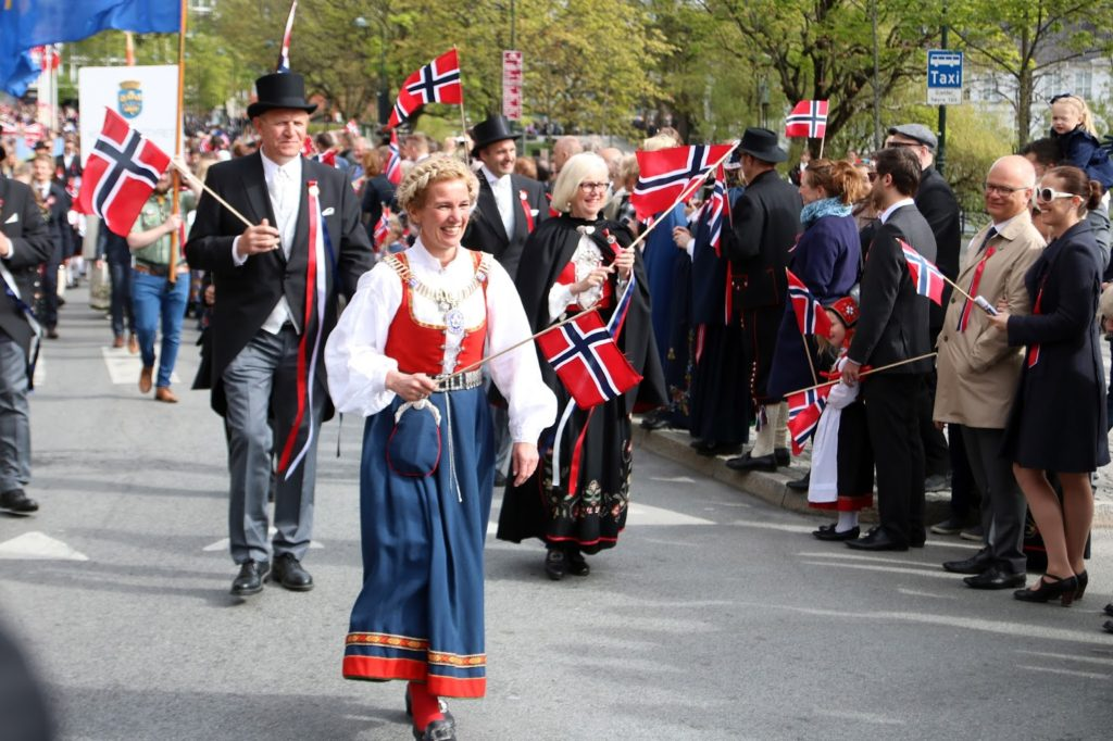 Celebrating 17 mai in Norway - The mayor of Stavanger, Christine Sagen Helgø