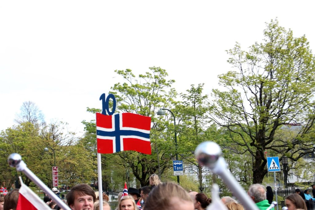 Celebrating 17 mai in Norway - barnetoget. Children's Parade in Stavanger