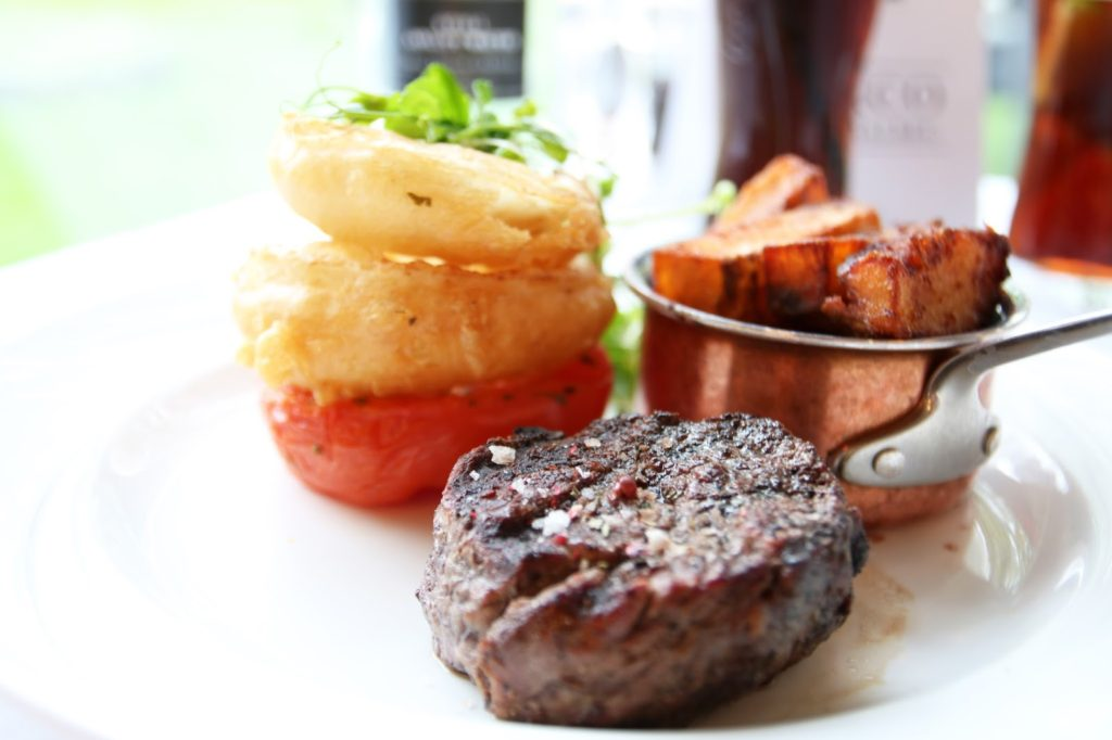 28 Day Dry Aged Steak Fillet at Marco Pierre White Steakhouse Double Tree by Hilton Cambridge
