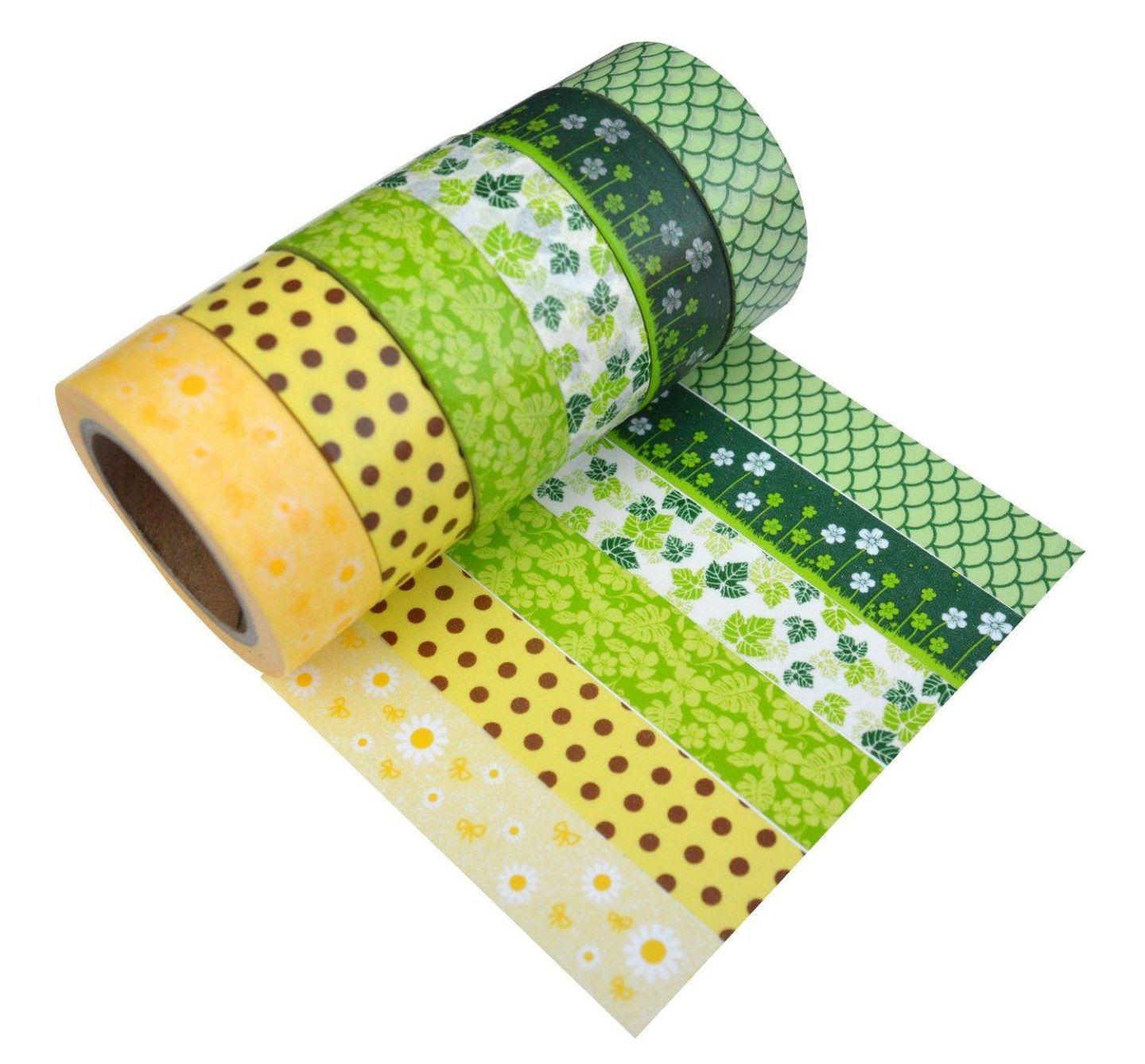 Washi Tape Set of 12 Rolls - Tiny Floret 6 Washi Rolls