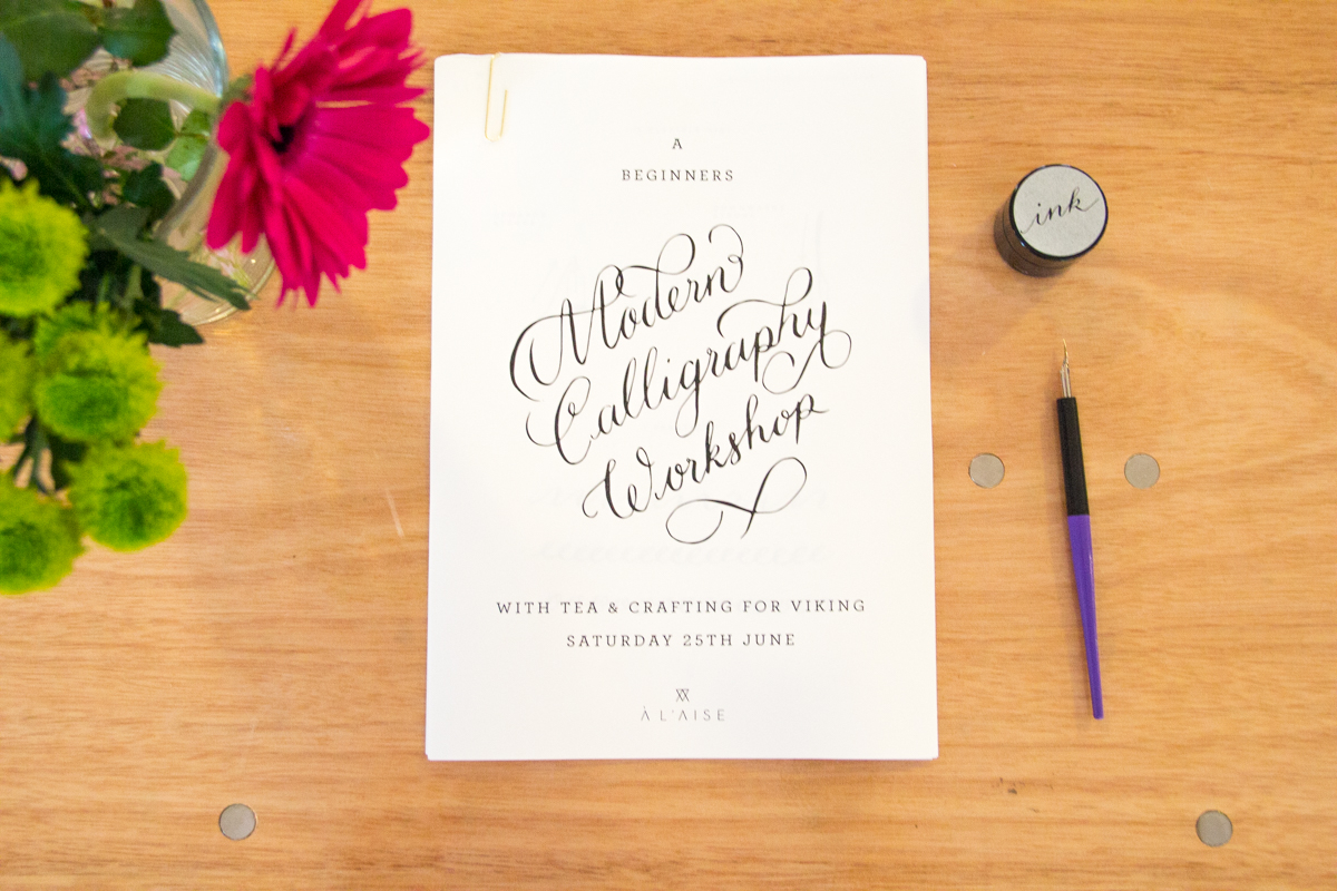 Viking Arty Party: A Crafting Afternoon with Viking - Modern Calligraphy