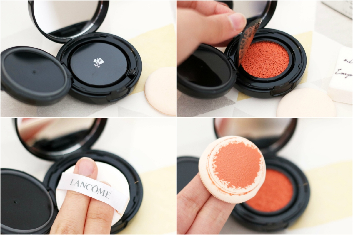 Lancôme Cushion Blush Subtil in Orange Splash Review and Swatches