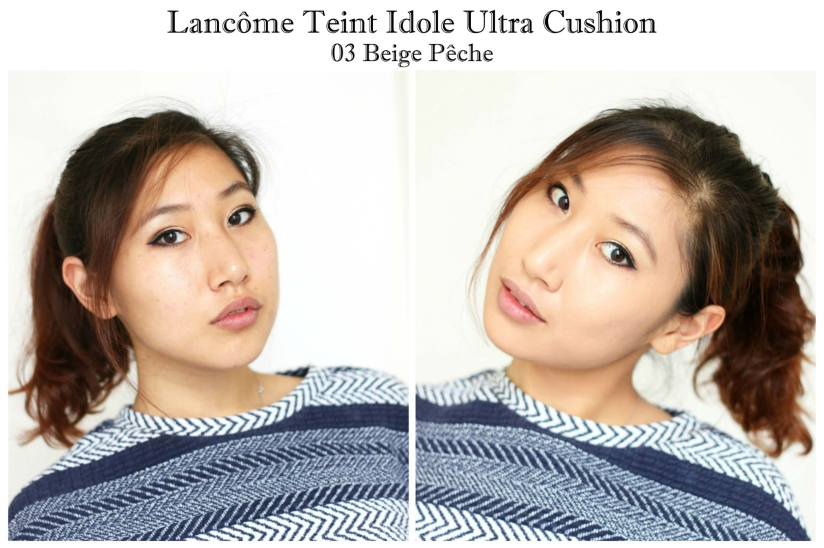 Lancôme Teint Idole Ultra Cushion in Beige Peche Review and Swatches