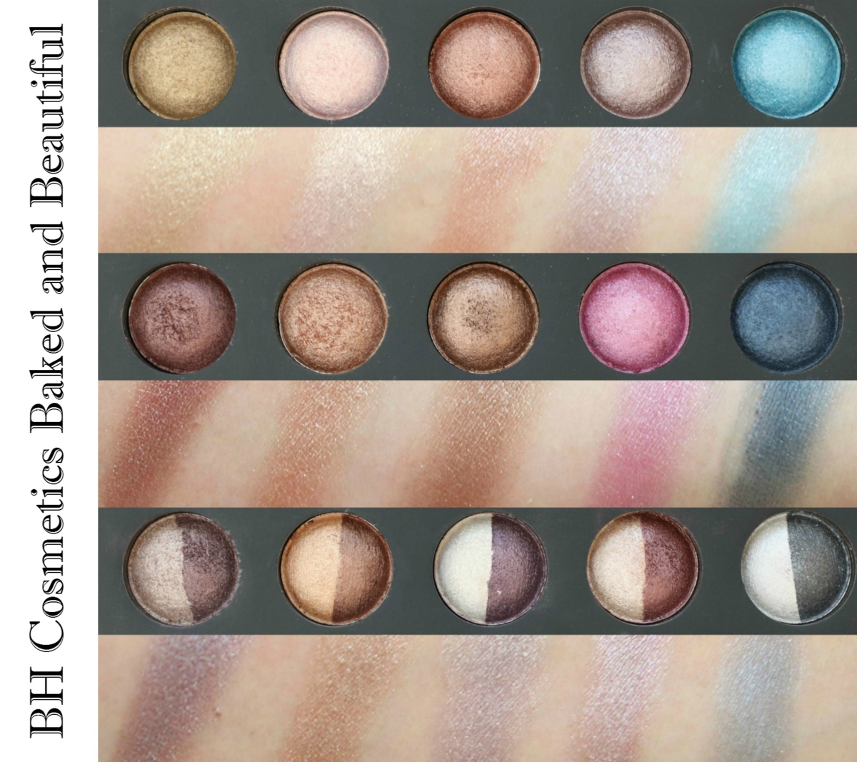 BH Cosmetics Baked and Beautiful Eyeshadow Palette Review and Swatches