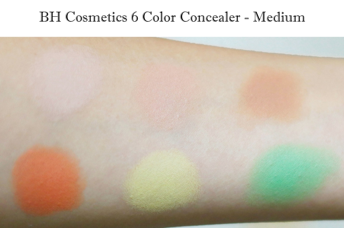 BH Cosmetics Concealer Palette - Medium Review and Swatches