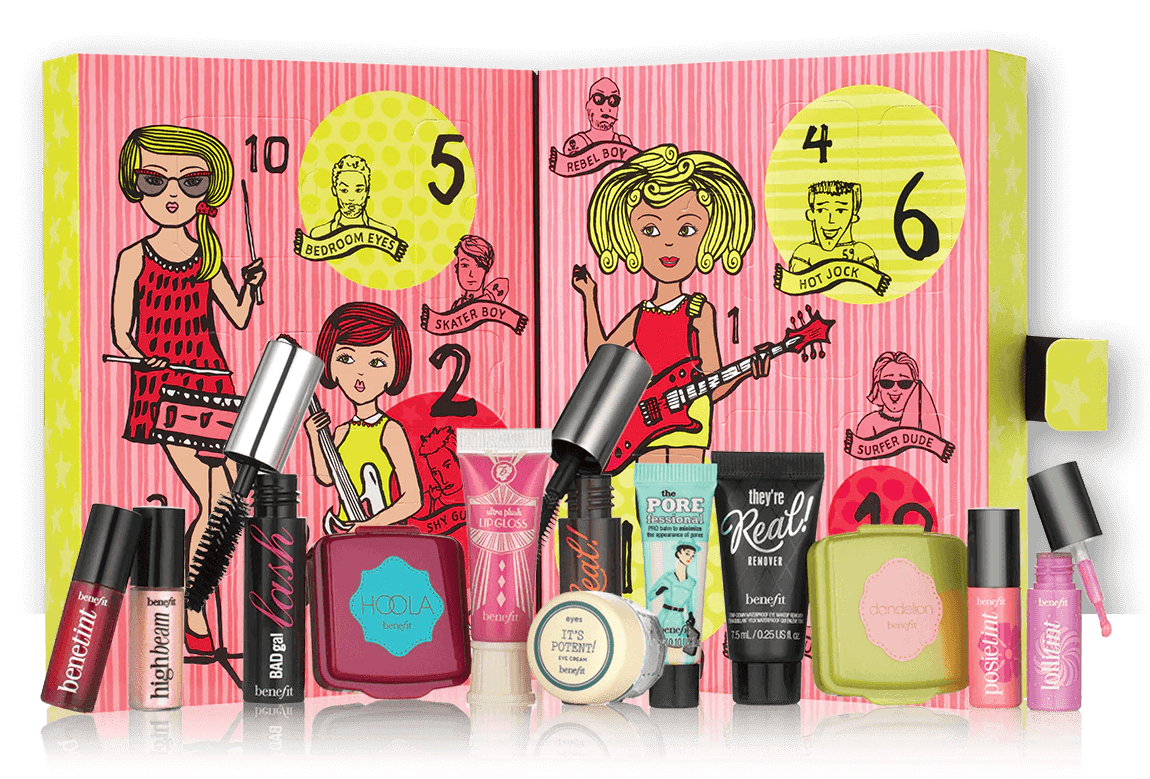 Benefit Advent Calendar - The Girl O'Clock Rock 2016 content