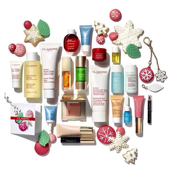 Clarins Advent Calendar 2016 content