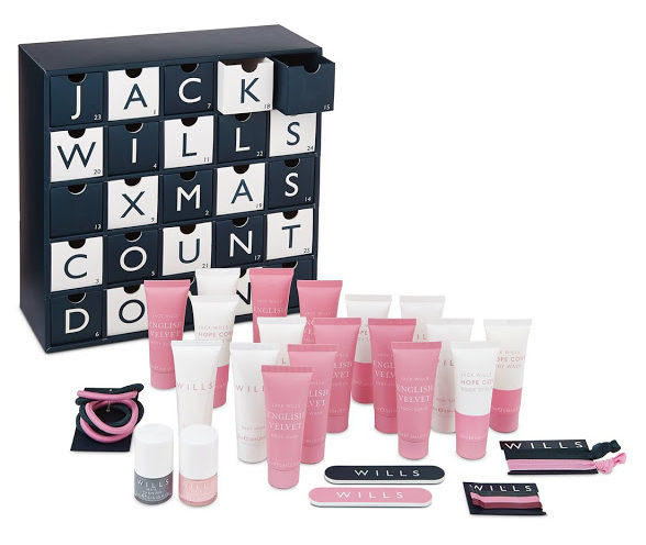 Jack Wills Advent Calendar 2016 content