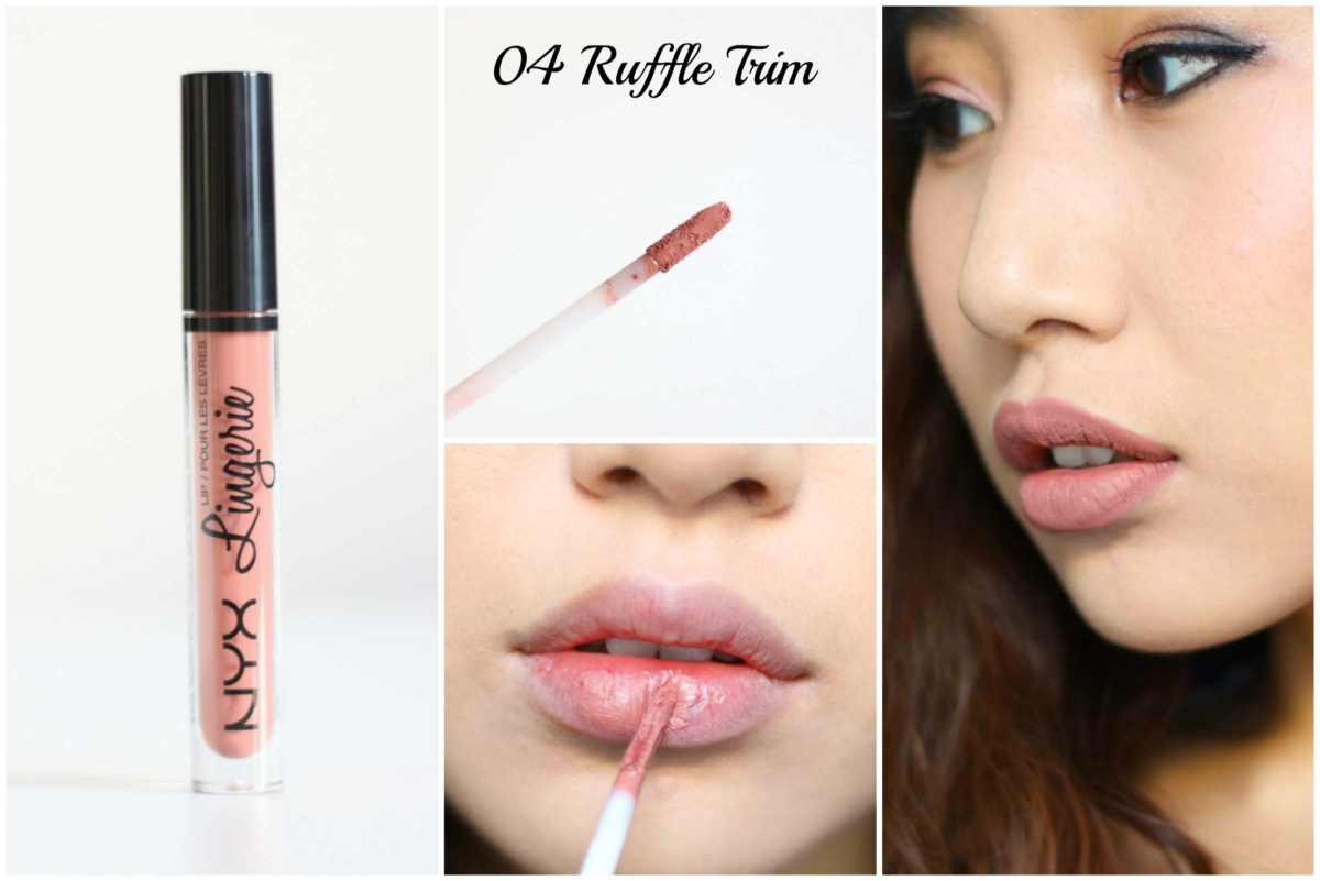 Beauty Swatch Book: NYX Lip Lingerie – 04 Ruffle Trim Review