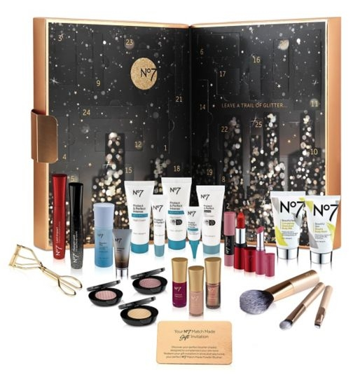 No7 Advent Calendar - Bright Lights Big City Beauty Calendar 2016 Content