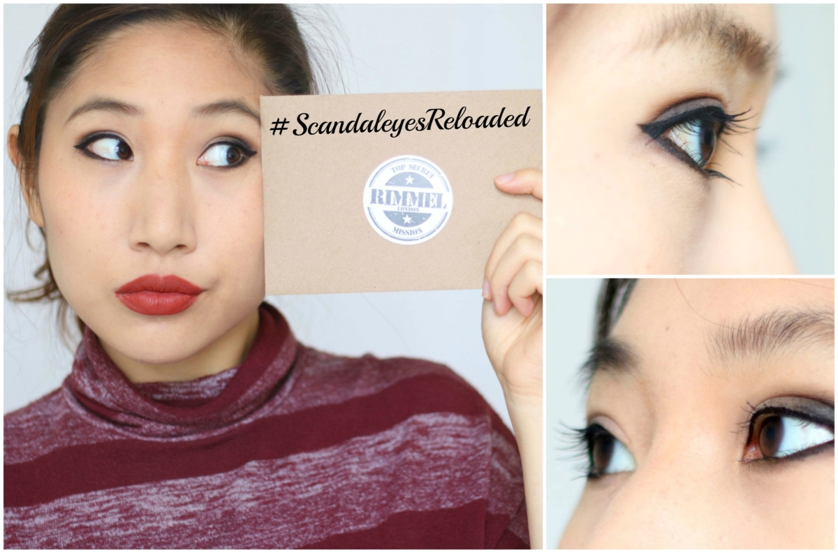 #ScandaleyesReloaded: Rimmel Scandaleyes Reloaded Mascara -Black and Extreme Black, Scandaleyes Precision Micro Eyeliner and Scandaleyes Thick and Thin Eyeliner Review