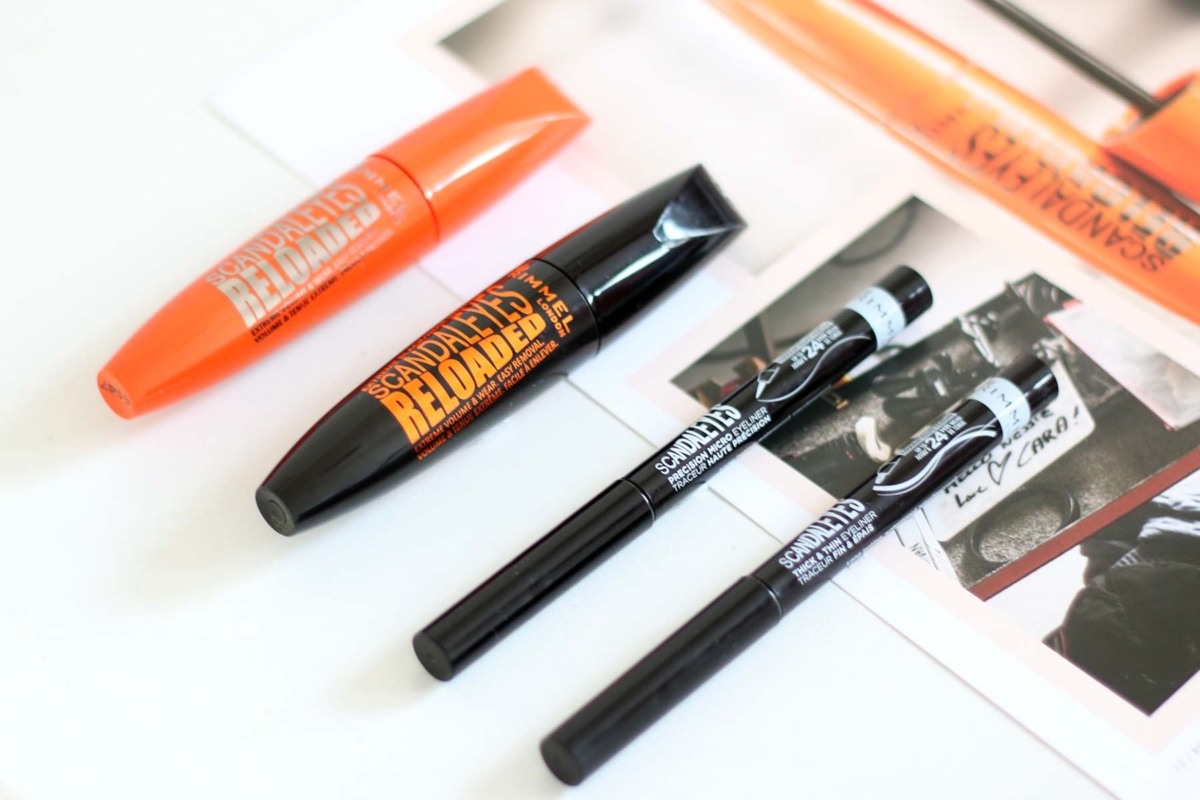 Rimmel Scandaleyes Reloaded Mascara -Black and Extreme Black, Scandaleyes Precision Micro Eyeliner and Scandaleyes Thick and Thin Eyeliner Review