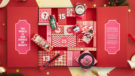 The Body Shop Advent Calendar 2016 content