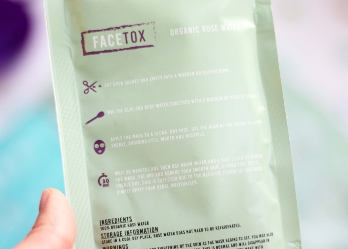 FaceTox Review - What's in the FaceTox Box: Organic Rose Water