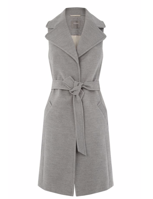 Oasis Grey Sleeveless Jacket