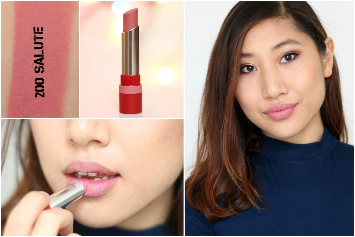 Rimmel London The Only 1 Matte Lipstick Review & Swatches - 200 Salute