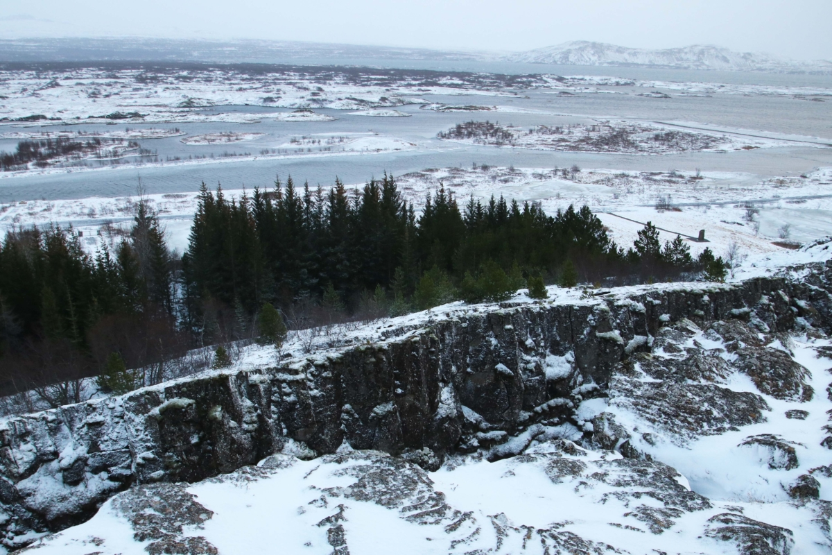Pingviller/Thingviller National Park: this is where the North america & Eurasia plates joy and grows further apart by around 7cm every year!