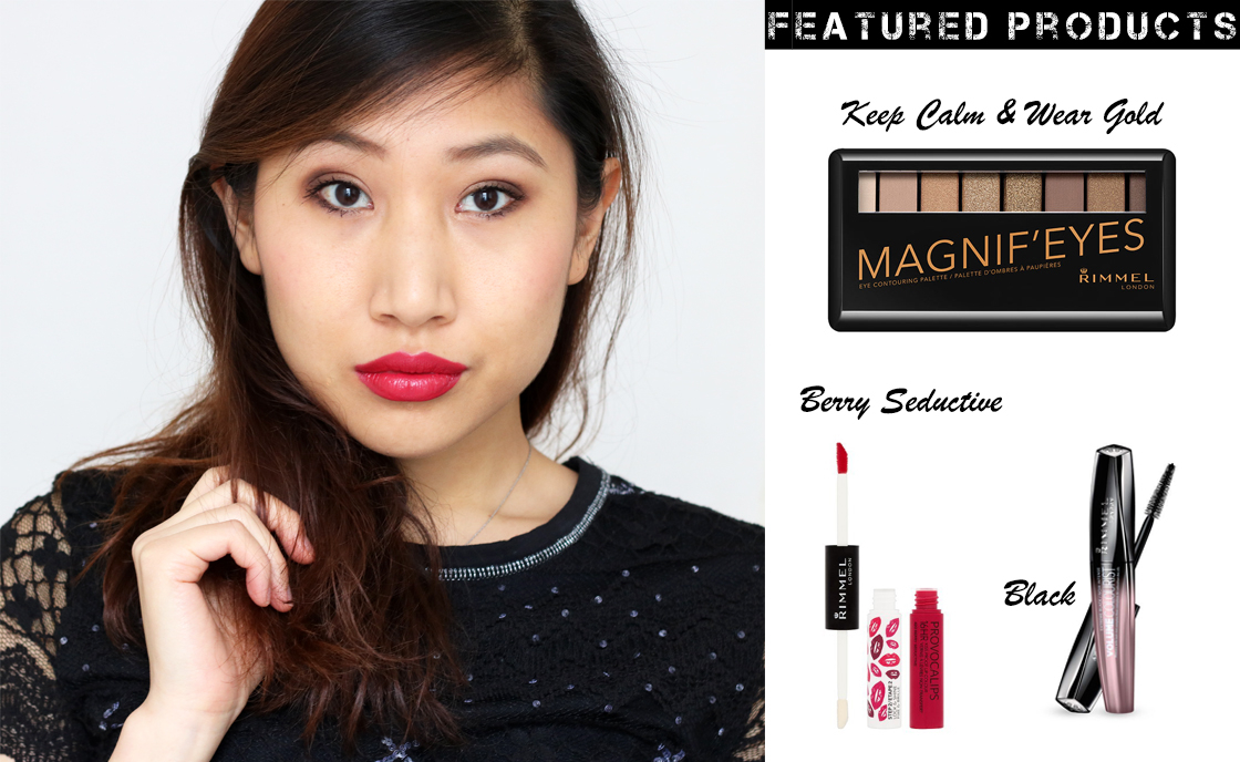 Get Ready with Rimmel London For Valentine's Day featuring Rimmel Magnif'eyes Eye Contouring Palette, Rimmel Volume Colourist Mascara and Rimmel Provocalips in 420 Berry Seductive. With Review & Swatches