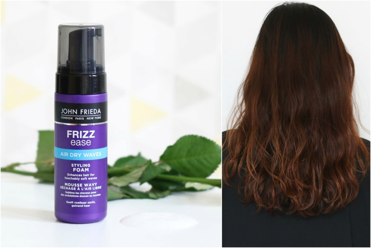 John Frieda Frizz Ease Air Dry Waves Styling Foam Review